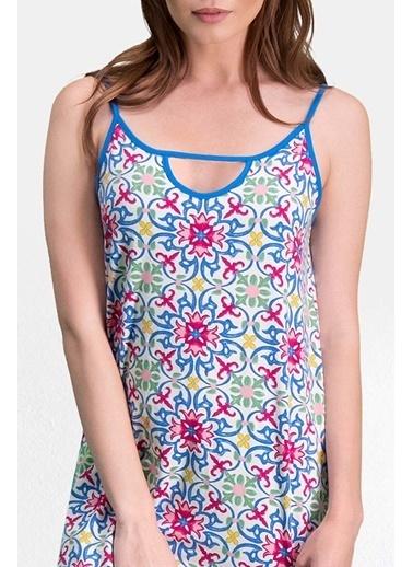 Pierre Cardin Pierre Cardin Krem Kadın Gecelik Elbise Krem